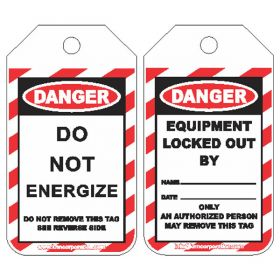25pcs KRM LOTO DANGER - DO NOT ENERGIZE TAG