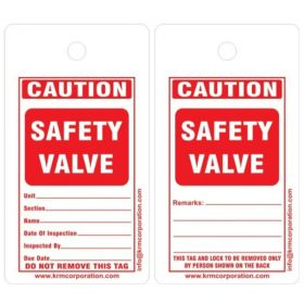 25pcs - CAUTION SAFETY VALVE TAG