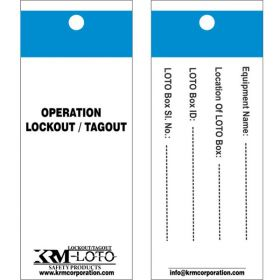 25pcs - KRM LOTO OPERATION LOCKOUT / TAGOUT TAGS