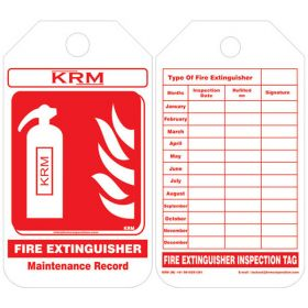100pcs - KRM LOTO - FIRE EXTINGUISHER MAINTENANCE RECORD