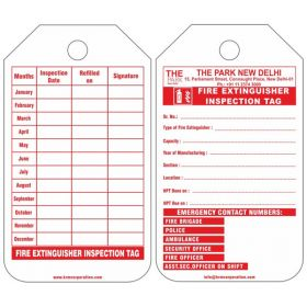 100pcs - KRM LOTO  - FIRE EXTINGUISHER INSPECTION  TAG (CUSTOMISED TAG)