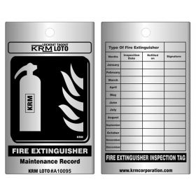 100pcs KRM LOTO – FIRE EXTINGUISHER – MAINTENANCE TAG – ALUMINIUM
