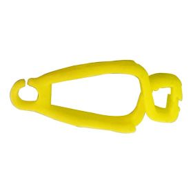 25pcs LOCK TAG CLIP LOCKOUT TAGOUT HOLDER - STRAIGHT WITHOUT MATERIAL YELLOW