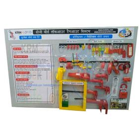 KRM LOTO –  DOJO BOARD LOCKOUT TAGOUT SYSTEM WITH MATERIAL