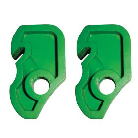 2pcs Mini Circuit Breaker Lockout Green