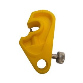 Mini Circuit Breaker Lockout with Special Foldable Screw- Yellow