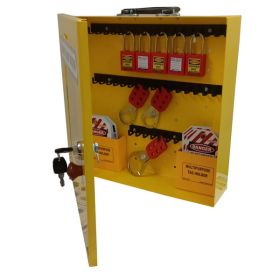 KRM LOTO – OSHA LOCKABLE LOCKOUT TAGOUTSTATION WITH MATERIAL