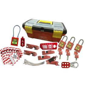 KRM LOTO - OSHA LOCKOUT TAGOUT ELECTRICAL MOLDED BOX KIT - 9054