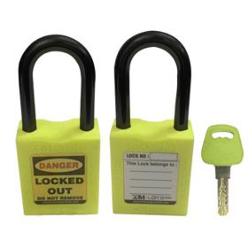 OSHA SAFETY LOCK TAG PADLOCK - NYLON SHACKLE- GREEN