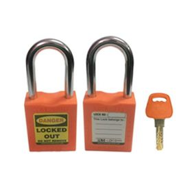 OSHA SAFETY LOCK TAG PADLOCK – METAL SHACKLE-ORANGE