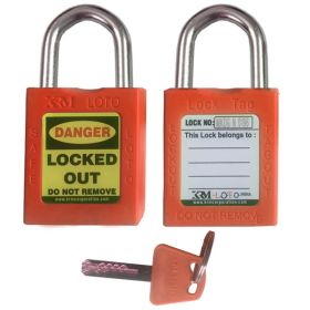 OSHA Safety Isolation Lockout Padlock - Short Metal Shackle