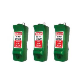 3pcs PIN CIRCUIT BREAKER LOCKOUT - GREEN