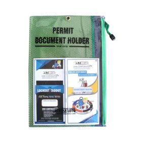 Lockout Permit Document Holder Green