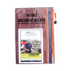 Lockout Permit Document Holder Orange