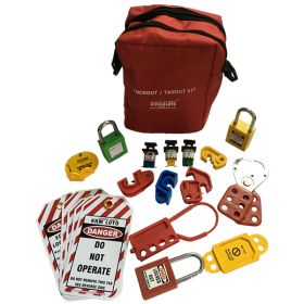 KRM LOTO – PERSONAL LOCKOUT TAGOUT POUCH KIT - RED
