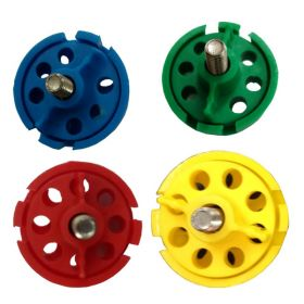 4pcs Round Multipurpose Cable Lockout with 6 Holes in 4 Colors(without cable)