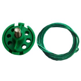 Round Multipurpose Cable Lockout 6H Green(with 2mtr. cable Without Loop)