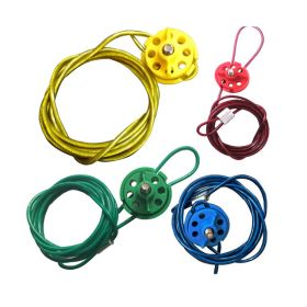 4pcs Round Multipurpose Cable Lockout 6 Holes (with 2mtr. cable & With Loop in 4 colors)