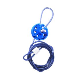 Round Multipurpose Cable Lockout 6H Blue (with 2mtr. cable & With Loop)