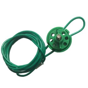 Round Multipurpose Cable Lockout 6H Green (with 2mtr. Cable & With Loop)