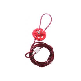 Round Multipurpose Cable Lockout 6H Red (with 2mtr. cable & With Loop)