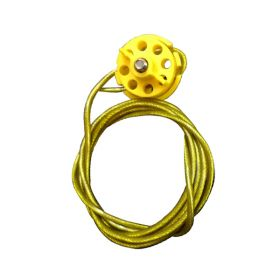 Round Multipurpose Cable Lockout 6H Yellow (with 2mtr. cable & With Loop)