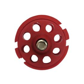 Round Multipurpose Cable Lockout 8H Red (without cable)