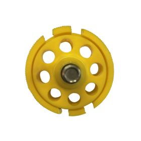 Round Multipurpose Cable Lockout 8H Yellow (without cable)