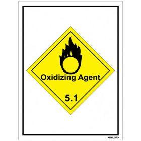 50pcs Self Adhesive Labels - Oxidizing Agent