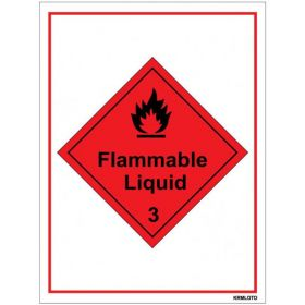 50pcs Self Adhesive Labels - Flammable Liquid