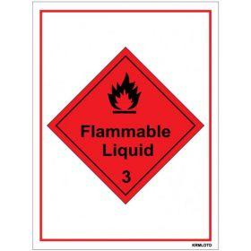 50pcs Self Adhesive Labels - Flammable Liquid