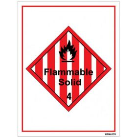 50pcs Self Adhesive Labels - Flammable Solid