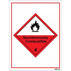 50pcs Self Adhesive Labels - Spontaneously Combustible