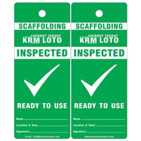 25pcs - KRM LOTO - INSPECTED READY TO USE SCAFFOLD TAG