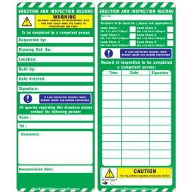 25pcs - KRM LOTO - WARNING & CAUTION - SCAFFOLD TAG