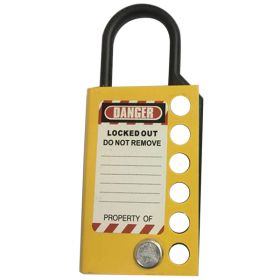 Stainless steel hasp -without any chain -yellow