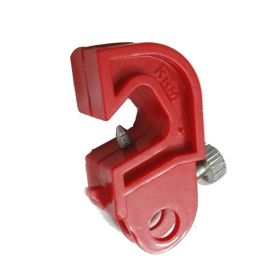 Universal Circuit Breaker Lockout with nose at base with special  foldable screw - Red
