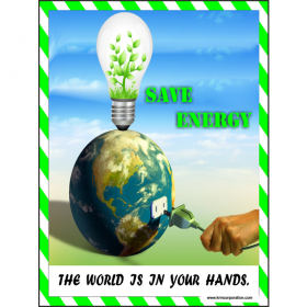 5pcs KRM LOTO - SAVE ENERGY  SAFETY POSTER (ACP SHEET) 4ft X 3ft