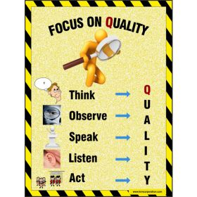 5pcs KRM LOTO - FOCUS ON QUALITY SAFETY POSTER (ACP SHEET) 4ft X 3ft