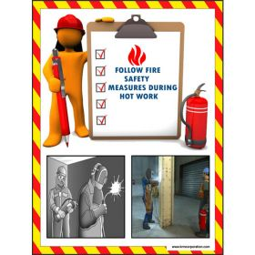 5pcs KRM LOTO - FOLLOW FIRE SAFETY  SAFETY POSTER (ACP SHEET) 4ft X 3ft