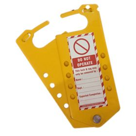 Labeled hasp with 8 holes - Powder coated metal Base Sheet