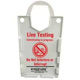 KRM LOTO – LARGE DISPLAY  TAG HOLDER - LIVE TESTING