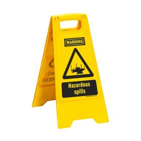 KRM LOTO PORTABLE SAFETY FLOOR STAND(HAZARDOUS SPILLS)
