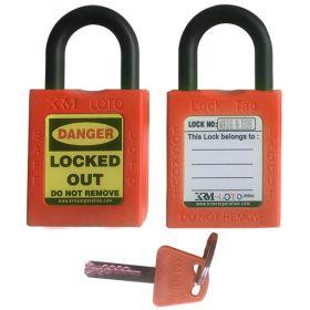 KRM LOTO - OSHA Safety Isolation Lockout Padlock - Short Nylon Shackle
