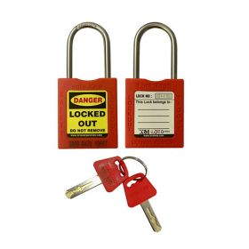 10pcs OSHA SAFETY THIN SHACKLE PADLOCK 4.7MM 304 GRADE DIFFER KEY