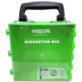 KRM LOTO – MULTIPURPOSE (ABS +POLYCARBONATE) SUGGESTION BOX - GREEN