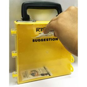 KRM LOTO – MULTIPURPOSE (ABS +POLYCARBONATE) SUGGESTION BOX - YELLOW