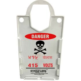 10pcs KRM LOTO – LARGE DISPLAY  TAG HOLDER - DANGER 415 VOLTS-BILINGUAL