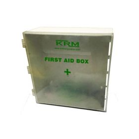 KRM FIRST AID KIT BOX (ABS + POLYCARBONATE) - WHITE