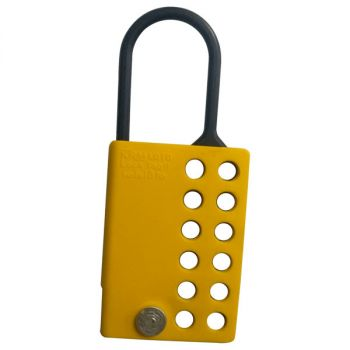 10PCS KRM LOTO DI ELECTRIC LOCKOUT HASP WITH 12 HOLES-YELLOW